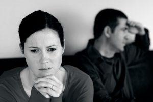unhappy couple having problems