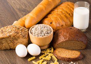 whole grain bread pasta and milk for DASH diet