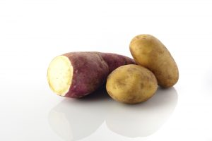 starchy potato and sweet potato