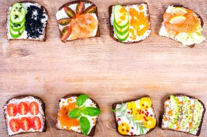 open faced nordic sandwiches