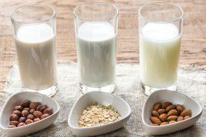 non-dairy milk soy almond