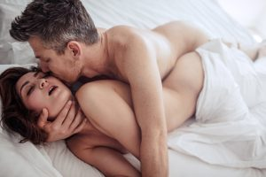 intimate couple having sex after man takes Progentra
