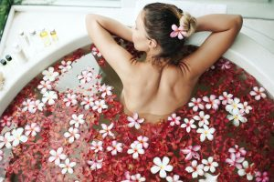 flower spa bath