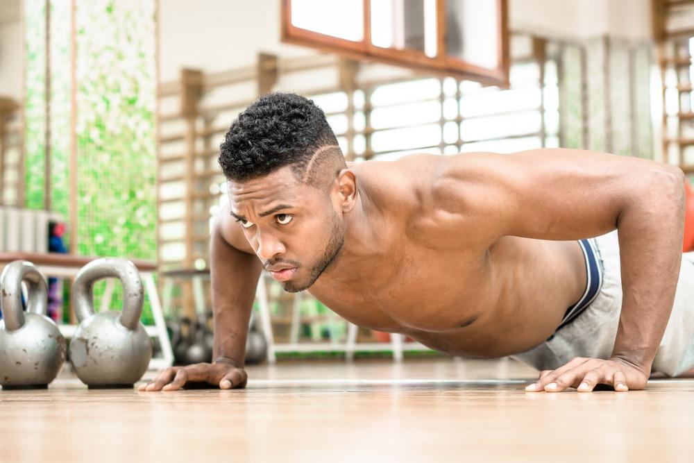fit man doing pushups